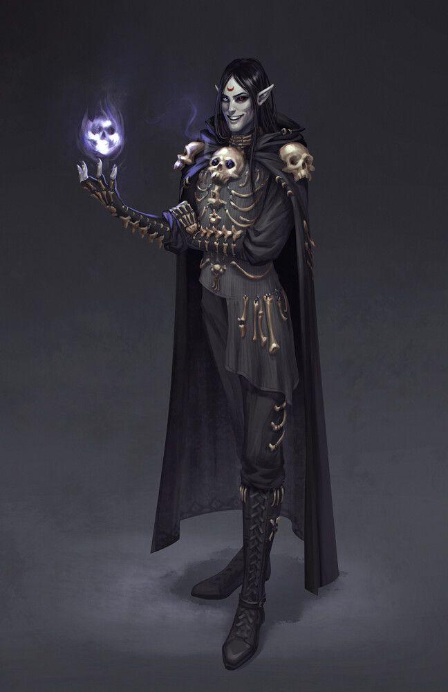 dark elf necromancer race class in ESO