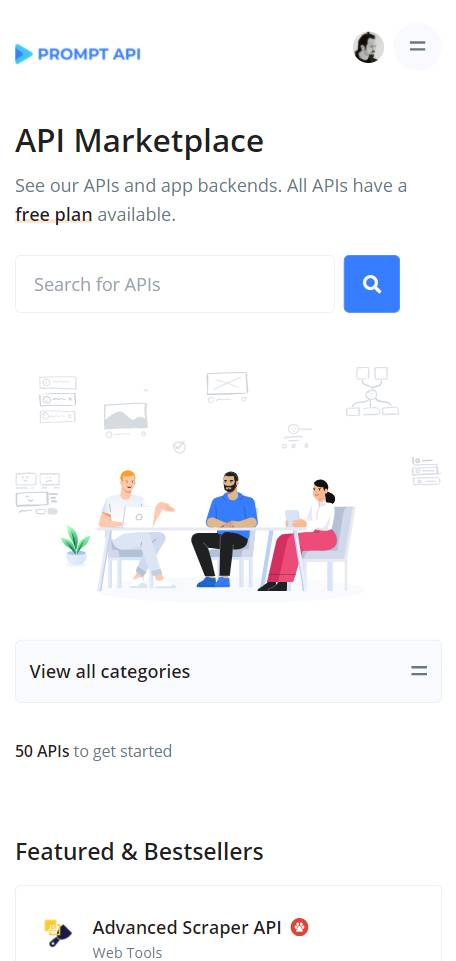 Prompt API Marketplace