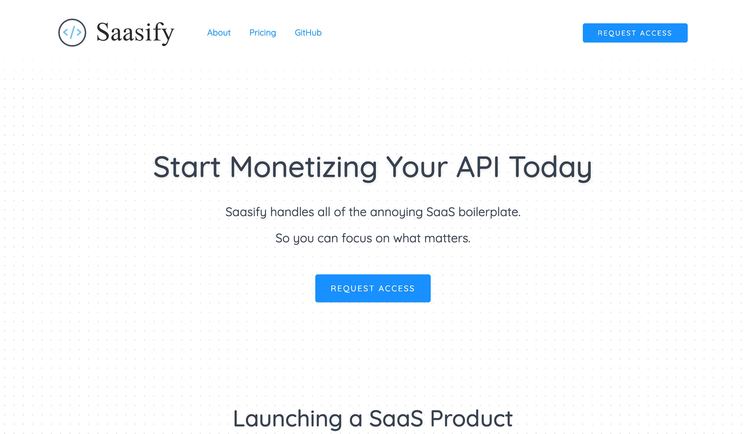 Saasify API Marketplace