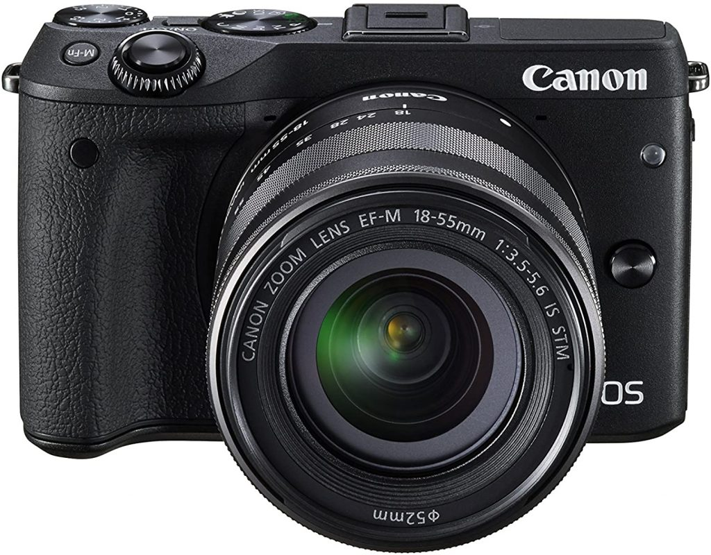Canon EOS m3 Mirrorless camera with flipping screen'