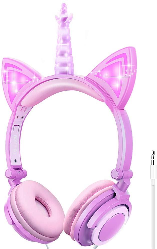 Esonstyle Unicorn style kids headphones