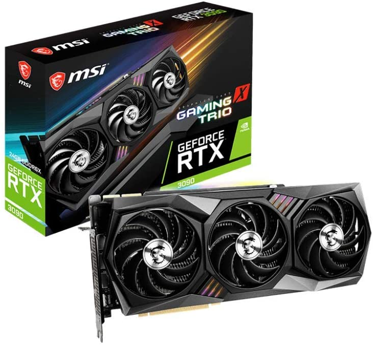 MSI Gaming GeForce RTX 3090 Gaming X Trio 24G- graphic card fpr VR