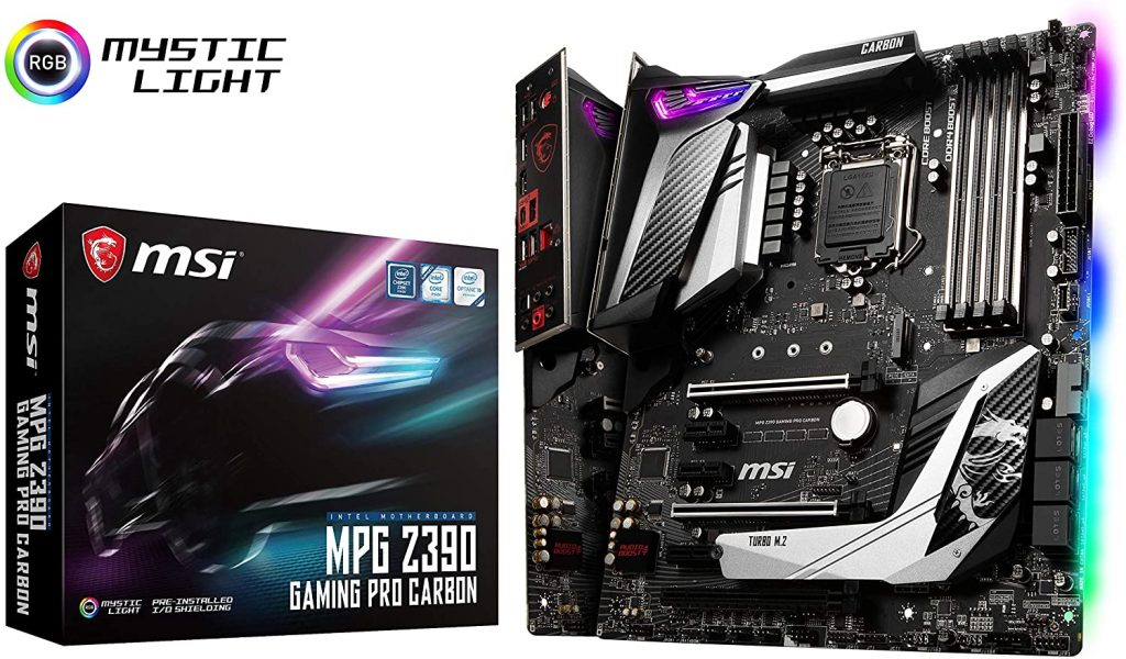 MSI MPG PRO Z390 Motherboard- best gaming motherboards for i7-9700k