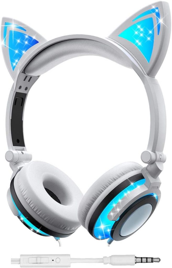 Olyre wired cat ear headphones