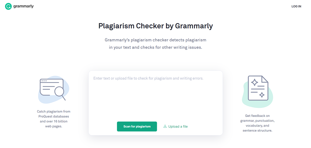 Grammary tool for plagiarism checker