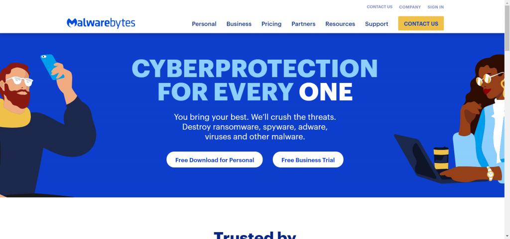 Malwarebytes- best antirvirus for chromebook