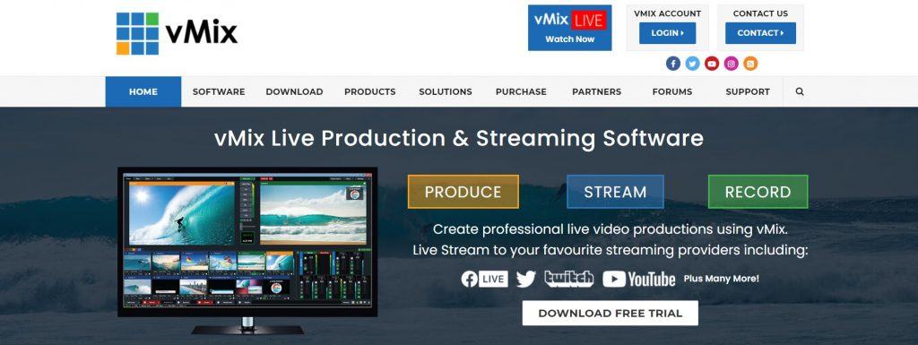 vMix-live streaming software